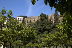 Alcazaba à Malaga Photographie stock libre de droits