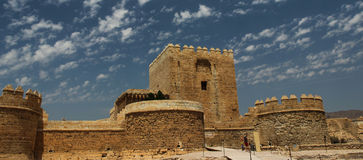 Alcazaba στην Αλμερία  Ανδαλουσία  Ισπανία Στοκ εικόνες με δικαίωμα ελεύθερης χρήσης