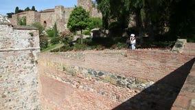Alcazaba της Μάλαγας απόθεμα βίντεο