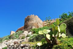 Alcazaba (φρούριο) στην Αλμερία, Ανδαλουσία Στοκ εικόνα με δικαίωμα ελεύθερης χρήσης