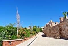 Alcazaba (φρούριο) στην Αλμερία, Ανδαλουσία Στοκ Εικόνες
