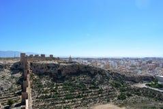 Alcazaba (крепость) в Альмерии, Андалусии Стоковая Фотография