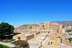 Alcazaba (крепость) в Альмерии, Андалусии Стоковые Изображения