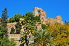 Alcazaba Малаги, в Малаге, Испания стоковое изображение rf