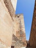 Alcazaba (军事季度)阿尔汉布拉,西班牙。 免版税库存图片