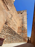 Alcazaba (军事季度)阿尔汉布拉,西班牙。 免版税库存照片