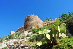Alcazaba (堡垒)在阿尔梅里雅,安大路西亚 免版税库存图片