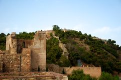 Alcazaba. Castle in Malaga, Spain Royalty Free Stock Photo