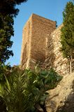 Alcazaba. Castle in Malaga, Spain Stock Photos