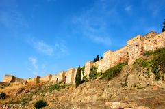 Alcazaba. Castle in Malaga, Spain Royalty Free Stock Images