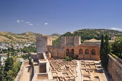 The Alcazaba. Royalty Free Stock Photo
