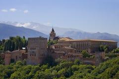 alcazaba alhambra Γρανάδα Στοκ Εικόνα