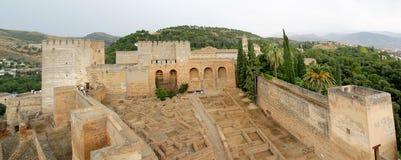 alcazaba alhambra подготовляет квадрат Стоковые Изображения RF