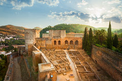 Alcazaba of the Alhambra de Granada Stock Photography