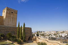 Alcazaba of Alhambra and Granada Royalty Free Stock Photo