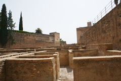 Alcazaba of Alhambra in Granada, Andalusia, Spain, Europe Royalty Free Stock Photography