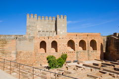 Alcazaba of Alhambra, Granada, Spain Stock Photos
