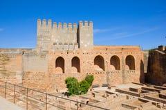 Alcazaba of Alhambra, Granada, Spain. Alcazaba (citadel) of Alhambra , Granada, Spain stock photos