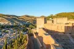 The Alcazaba of the Alhambra, Granada, Spain Stock Photo