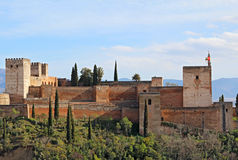 The Alcazaba of the Alhambra in Granda, Spain Stock Image