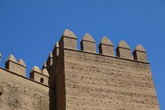The Alcazaba of Almeria Royalty Free Stock Photos