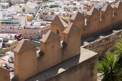The Alcazaba of Almeria Stock Photography