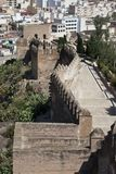 The Alcazaba of Almeria Royalty Free Stock Photography