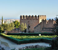 Alcazaba Almeria Fotografia Stock