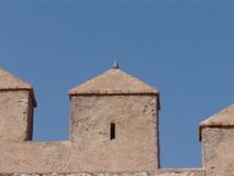 Alcazaba Almeria. Top of alcazaba castle in Almeria Spain Stock Image