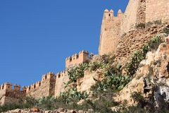 Alcazaba in Almeria Royalty Free Stock Photography