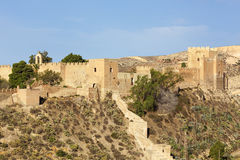 Alcazaba at Almeria, Spain. Alcazaba, moorish fortress at Almeria, Spain Royalty Free Stock Photos