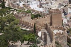 Alcazaba in Almeria. Walls of an old fortress Alcazaba in Almeria, Spain Royalty Free Stock Photo