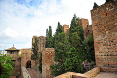 Alcazaba, arabic ramparts of Malaga, Andalucia, Spain Royalty Free Stock Photo