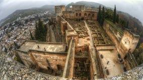 Alcazaba av Alhambra, Granada, Andalucia, Spanien Royaltyfria Foton