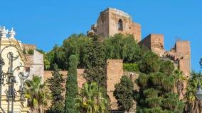 Alcazaba av Malaga stock video