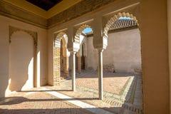 Alcazaba av Malaga Arkivfoton