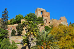 Alcazaba av Malaga, i Malaga, Spanien royaltyfri bild