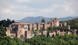 Alcazaba av Malaga, Spanien Arkivbilder