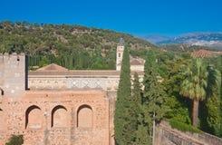 Alcazaba castle in Alhambra. Granada, Spain Royalty Free Stock Image