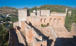 Alcazaba castle in Alhambra. Granada, Spain Stock Image