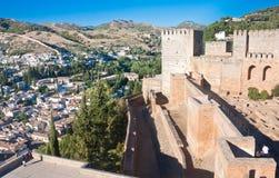 Alcazaba castle in Alhambra. Granada, Spain Stock Photo