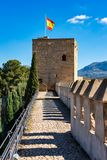 Alcazaba Castle of Antequera in province Malaga. Andalusia, Spain royalty free stock images
