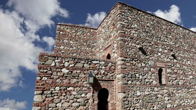 Alcazaba castle on Gibralfaro mountain. Malaga, Andalusia, Spain. The place is declared UNESCO World Heritage Site stock video footage