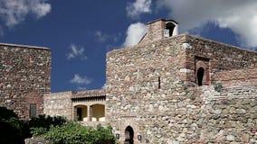 Alcazaba castle on Gibralfaro mountain. Malaga, Andalusia, Spain. The place is declared UNESCO World Heritage Site stock footage