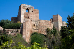 Alcazaba Castle in Malaga Stock Images