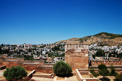 Alcazaba with city view of Granada Royalty Free Stock Image