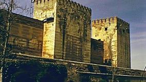 Alcazaba d'Alhambra de Grenade banque de vidéos