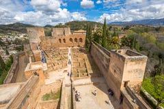 Alcazaba de格拉纳达 免版税图库摄影