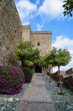 Alcazaba de马拉加在安大路西亚,西班牙 免版税库存照片