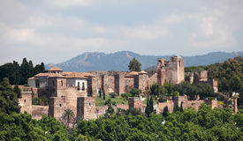 Alcazaba de Malaga, Espanha Imagens de Stock
